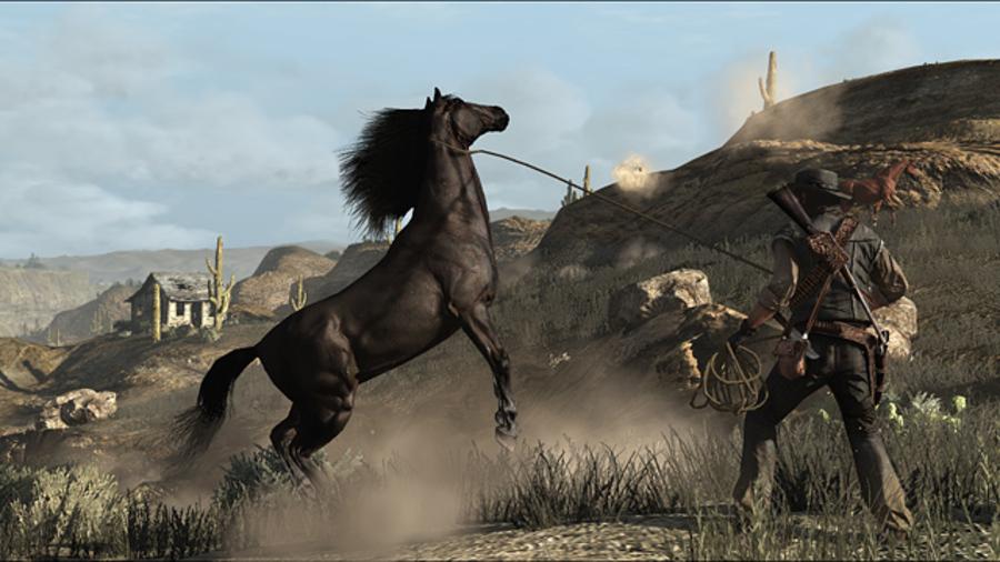 red dead redemption ловить лошадей