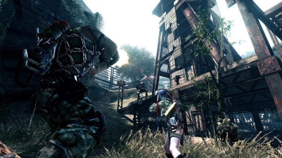 Скриншоты Lost Planet 2: карта Turbulent Jungle