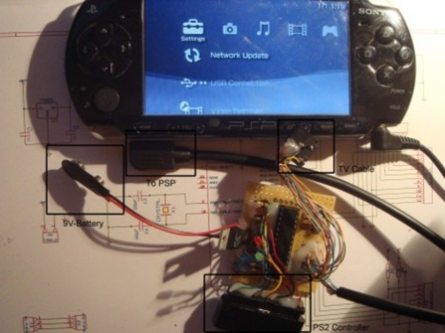Ps2-controller-on-psp