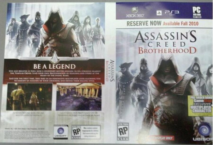 Следующий проект - Assassin's Creed: Brotherhood