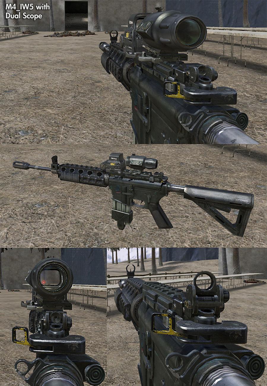 Оружие в Call of Duty Modern Warfare 3.