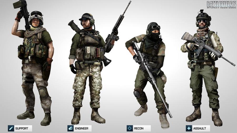 Альтернативная униформа персонажей в Battlefield 3
