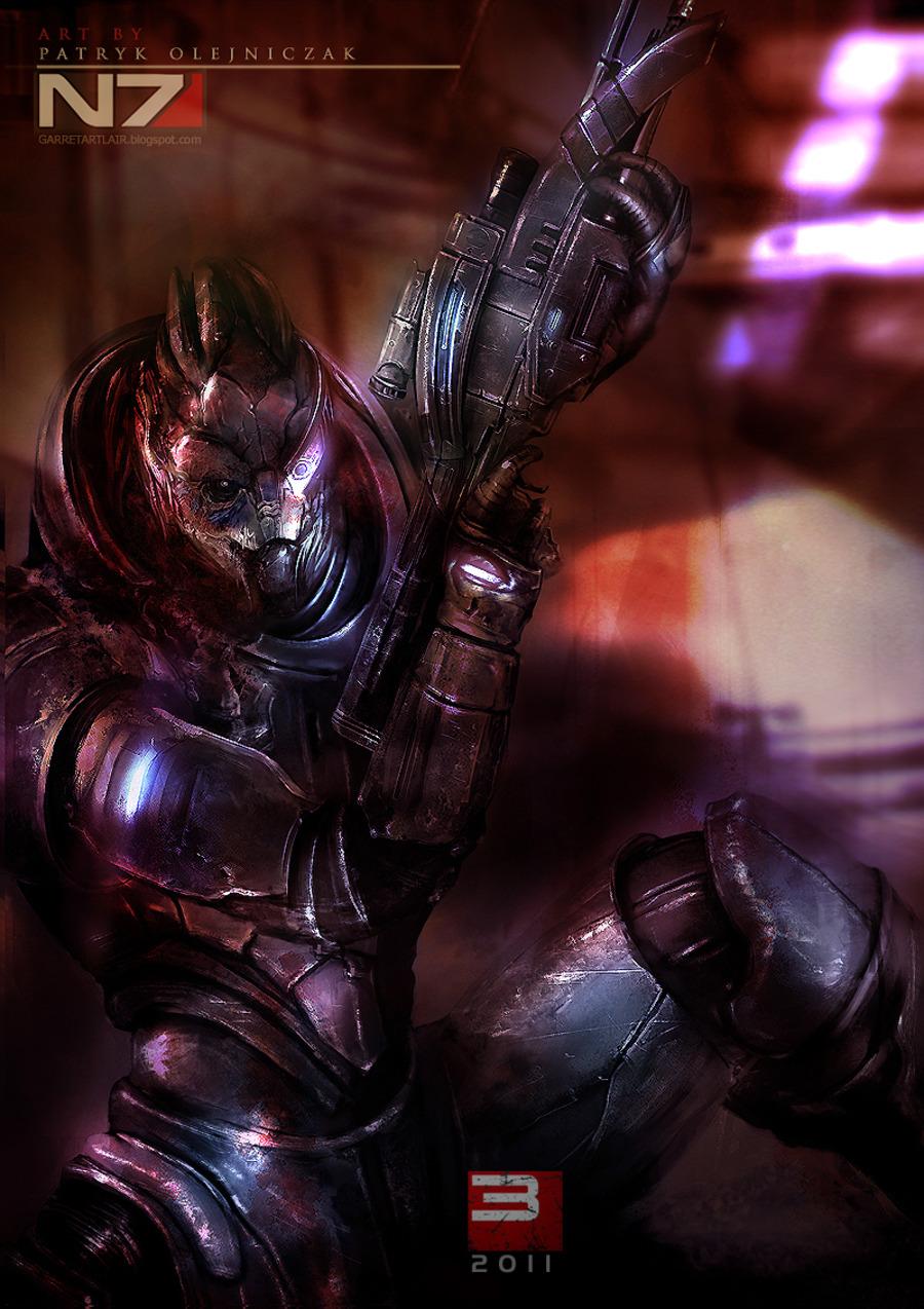 Новые арты персонажей Mass Effect 3