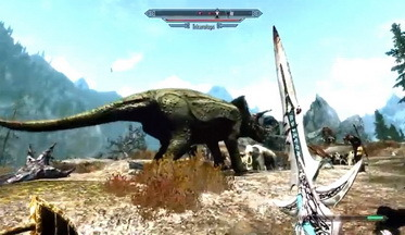 скачать мод на скайрим на динозавров img-1