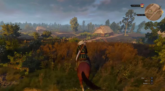 Геймплей The Witcher 3: Wild Hunt на PS4