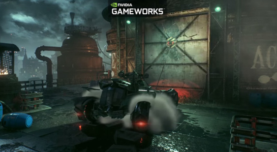 Видео Batman: Arkham Knight - Nvidia GameWorks - бэтмобиль