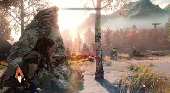 Демонстрация геймплея Horizon Zero Dawn - PGW 2015
