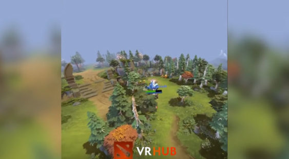 Видео Dota 2 - Dota VR Hub - режим наблюдателя для ВР