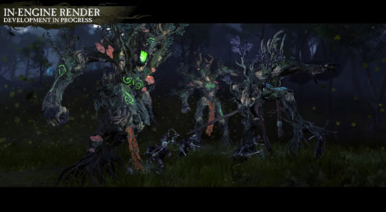 Ролик Total War: Warhammer - Realm of The Wood Elves - древолюды