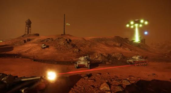 1апреля вконсольных версиях World ofTanks состоится битва заМарс