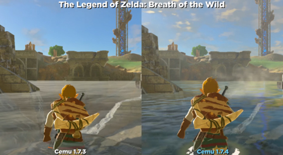 Геймплей The Legend of Zelda: Breath of the Wild на эмуляторе Cemu