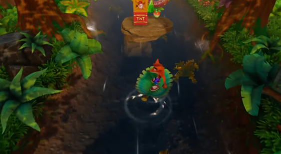 Геймплей Crash Bandicoot N. Sane Trilogy - уровень Upstream