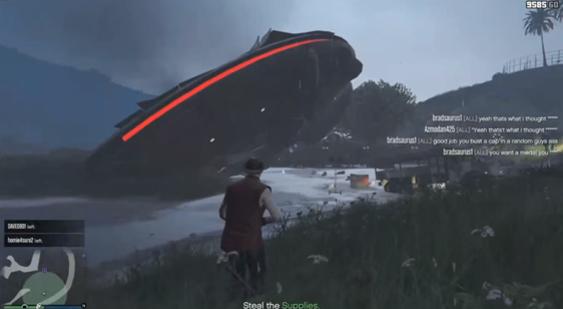 Фанаты игры GTA Vобнажили скрытую миссию спришельцами