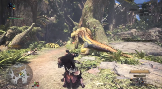 Геймплей Monster Hunter: World - охота на Great Jagras