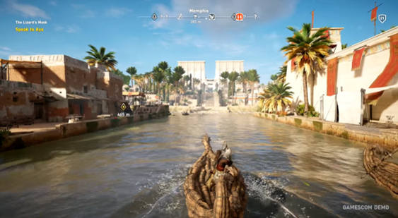 Геймплей Assassin's Creed Origins с Gamescom 2017 - 1 часть