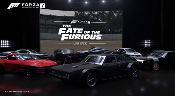 Трейлер Forza Motorsport 7 - The Fate of the Furious Car Pack