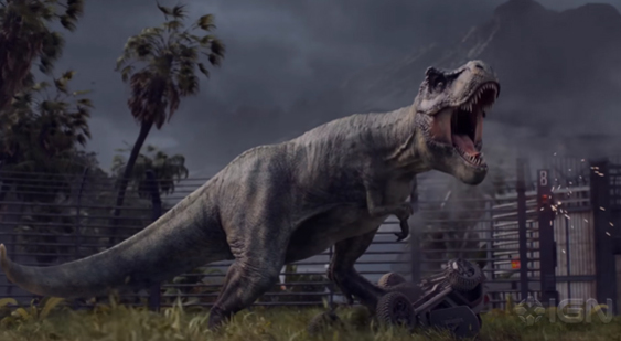 Видео Jurassic World Evolution о создании тираннозавра